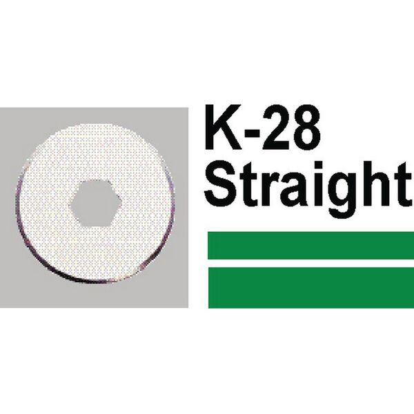 Carl K28 Replacement Straight Blade 2 Pack