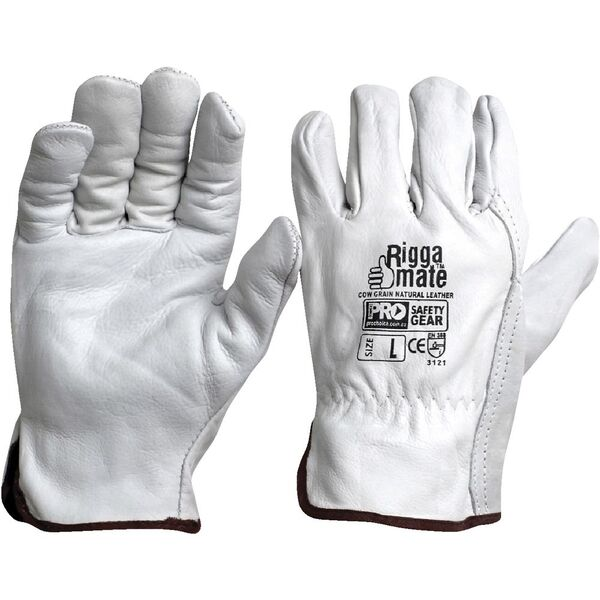 ProChoice Cow Grain Natural Leather Handling Gloves XL