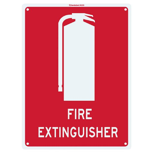 Sandleford 22.5 x 30cm Sign Fire Extinguisher