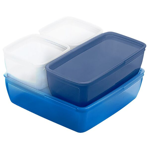 Smash Nude Food Movers Lunch Buddies Boxes Blue/Navy 4 Pack