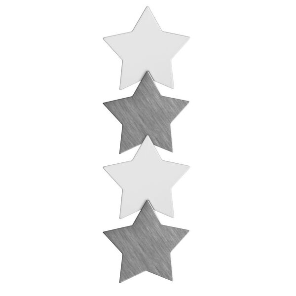 Three By Three Metal Magnets Stars 4 Pack