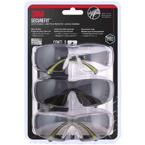 3M SecureFit 400 Safety Eyewear 3 Pack