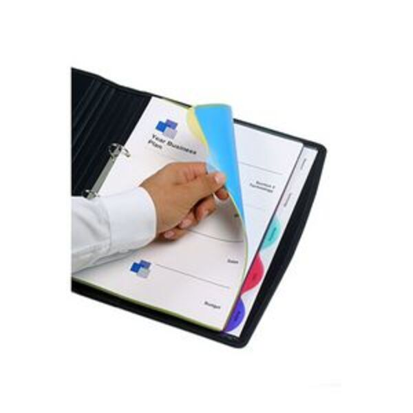 Marbig A4 Transparent Divider with 5 Tab View Tab Colour