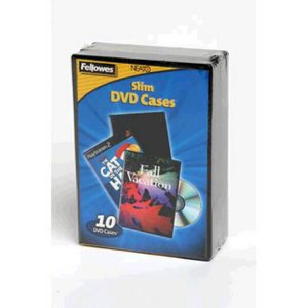 Fellowes Slimline DVD Cases 10 Pack