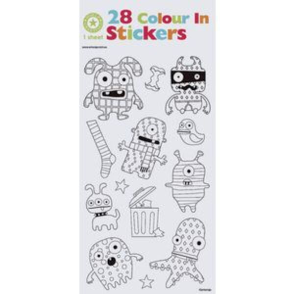 Artwrap Colouring Stickers Monsters
