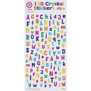 Artwrap Crystal Stickers Bright Alphabet