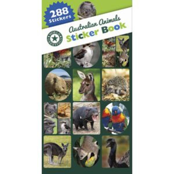 Artwrap Sticker Book Australian Animals