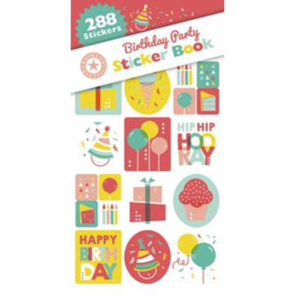 Artwrap Birthday Party Stickers 288 Pack