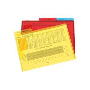 Marbig A4 Letter Files with Flap Assorted 3 Pack