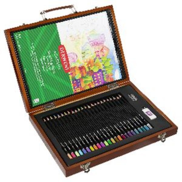 Derwent Academy Colouring Wooden Box Set