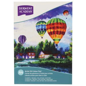 Derwent Academy Artist Oil Colour Pad 190gsm 15 Sheets A4