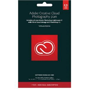 Adobe CC Photography Plan 1 Year PC Download
