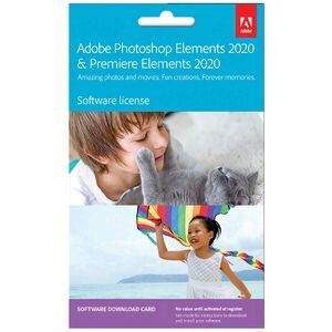 Adobe Photoshop and Premiere Elements 2020 1 Device Card