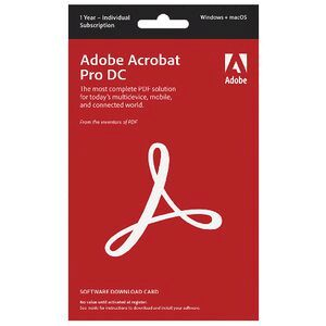 Adobe Acrobat Pro DC 12 Month PC Download