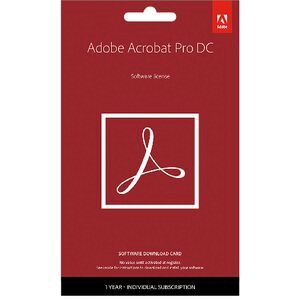 Adobe Acrobat Pro DC 12 Month PC Card