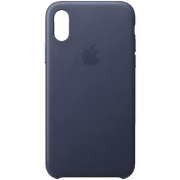 Apple iPhone XS Leather Case Blue