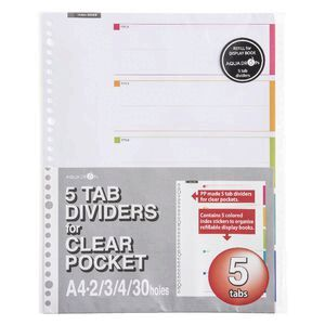 Aquadrops Display Book 5 Tab Dividers