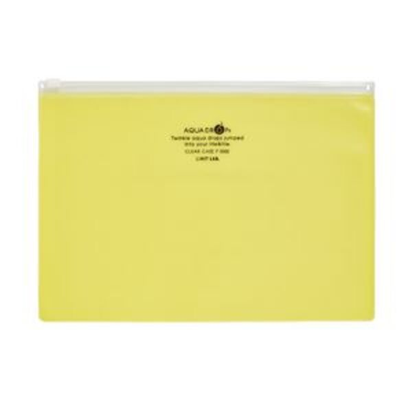 Aqua Drops Zip Open Document Wallet A5 Yellow