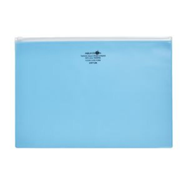 Aqua Drops Zip Open Document Wallet A4 Blue