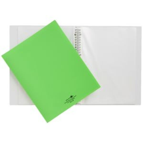 Aqua Drops Display Book A3 15 Pocket Refillable Lime