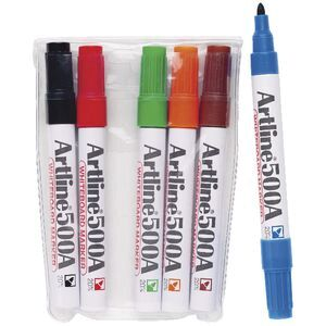 Artline 500A Whiteboard Markers Bullet Assorted 6 Pack