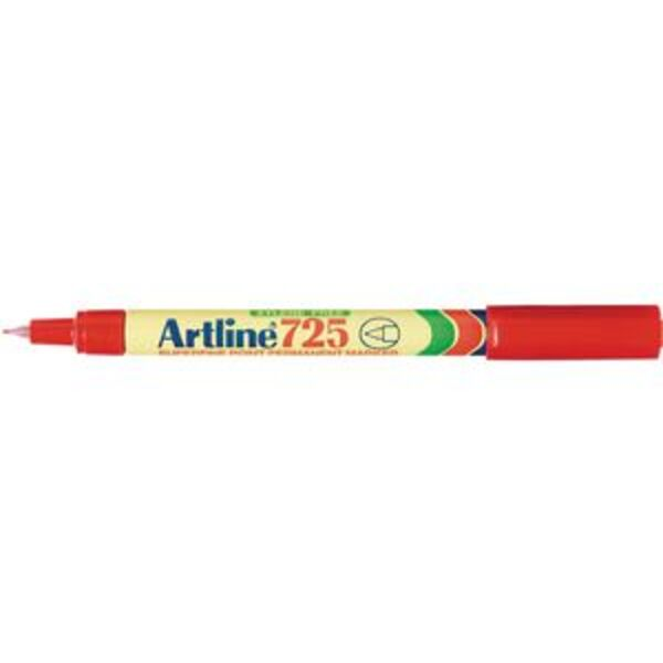 Artline 725 Permanent Marker Bullet Red