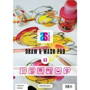 Art Spectrum A3 Draw and Wash Pad Smooth 125gsm 30 Sheets