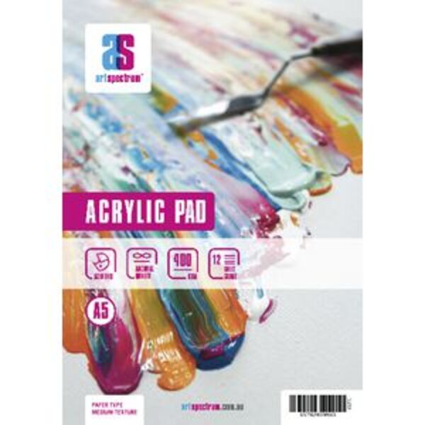 Art Spectrum A5 Acrylic Pad 400gsm 12 Sheets
