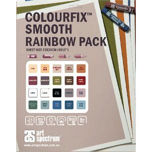 Art Spectrum Colourfix Paper 23 x 30cm Smooth Rainbow