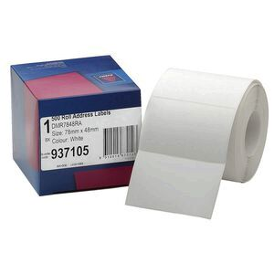 Avery Roll Address Labels 78 x 48mm White 500 Pack