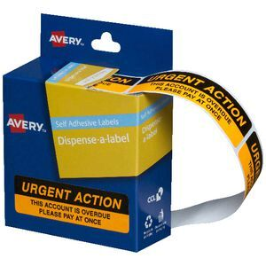 Avery 'Urgent Action' Printed Labels 19 x 64mm 125 Pack