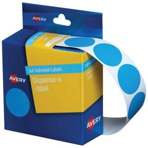 Avery Light Circle Labels Light Blue 24mm 500 Pack