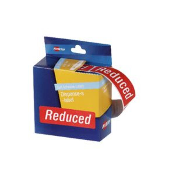 Avery Pre-printed Dispenser Label 'Reduced' 250 Pack