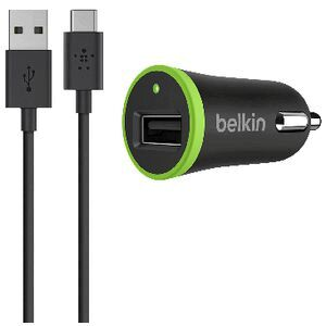 Belkin USB-C to USB-A Cable and Car Charger Black