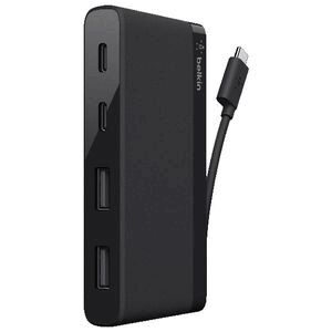 Belkin USB-C 4 Port Mini Hub Black