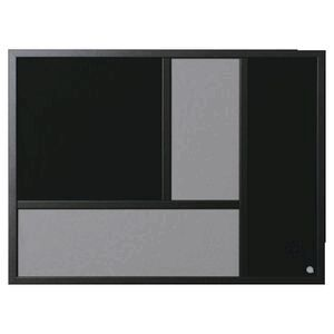 Bi-Office Gallery Notice Board 800 x 600mm Black/Grey