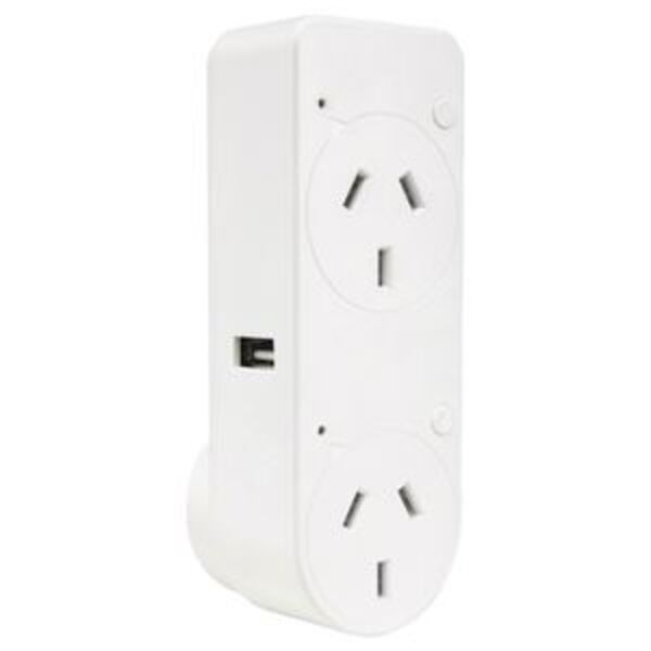 Brilliant Smart Double Adaptor with Dual USB