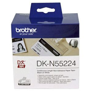 Brother DK N55224 Paper Tape No-Adhesive 54mm Black on White