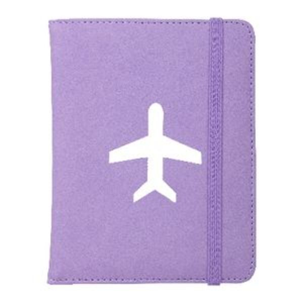 Bon Voyage Passport Cover Purple