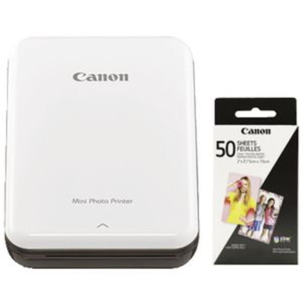 Canon Mini Photo Printer with 50 Pack Photo Paper