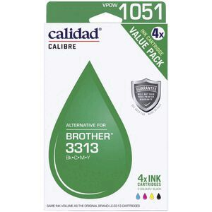Calidad Alternate Brother LC 3313 Ink Cartridges 4 Pack