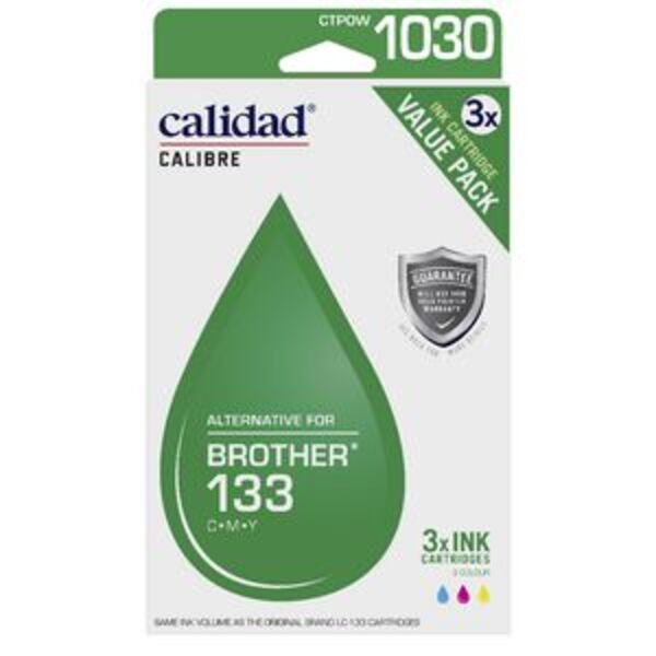 Calidad Compatible Brother 133 Ink Cartridge 3 Pack