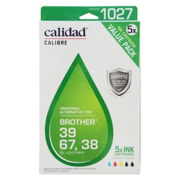 Calidad Compatible Brother LC 38/39/67 Ink 5 Pack