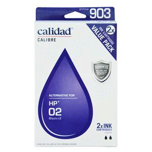 Calidad Compatible HP 02 Ink Cartridges Twin Pack Black