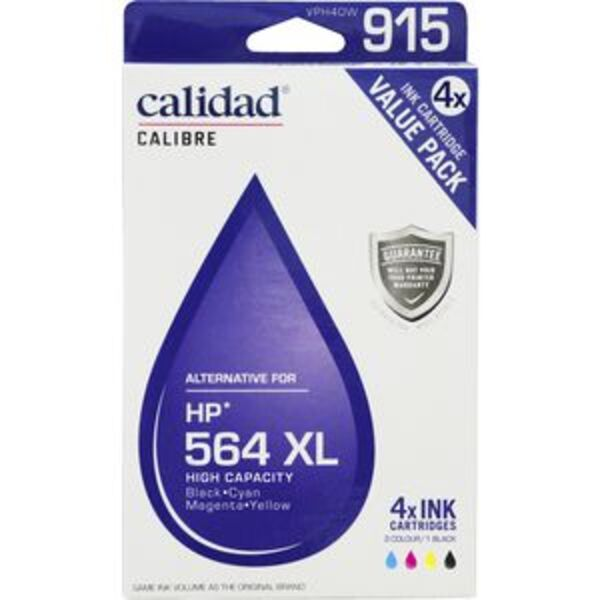 Calidad Compatible HP 564XL Ink Cartridges 4 Pack