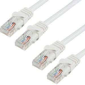 CAT 5e Cable 2m Twin Pack White