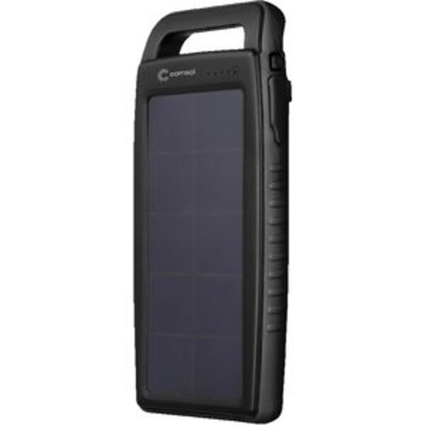 Comsol Dual Port Solar Charging Powerbank Black