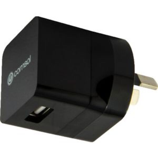 Comsol Single Port USB Wall Charger 1A Black