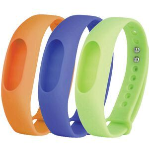 Jolt Fitness Tracker Bands Orange Blue Lime 3 Pack