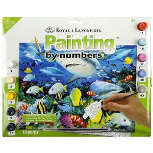 Royal & Langnickel Painting By Numbers Senior Reef Sharks